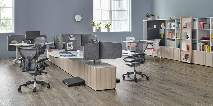 Herman Miller Aeron Chair with desk solutions