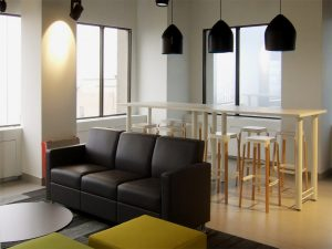 Lounge area at Yardstick Testing and Training.