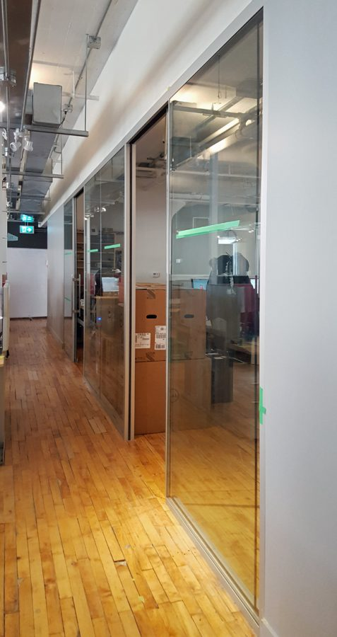 Workspace Group (WSG) movable wall installation