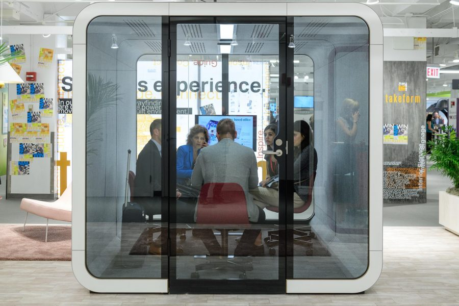 Framery soundproof pods available at WSG.